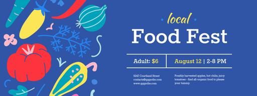 Local Food Fest With Vegetables Illustration Tickets