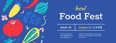 Local Food Fest with Vegetables illustration