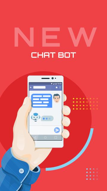 Modèle de visuel Online Chat on Phone Screen - Instagram Story