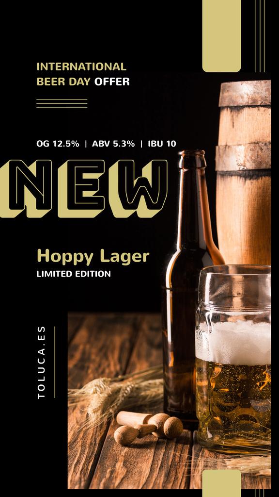Beer Day Offer Lager in Glass Mug — Modelo de projeto