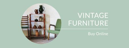 Plantilla de diseño de Vintage Furniture Shop Ad Antique Cupboard Facebook cover