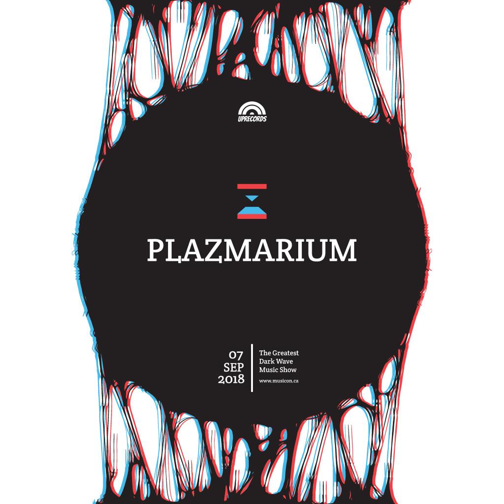 Dark wave music show poster — ein Design erstellen