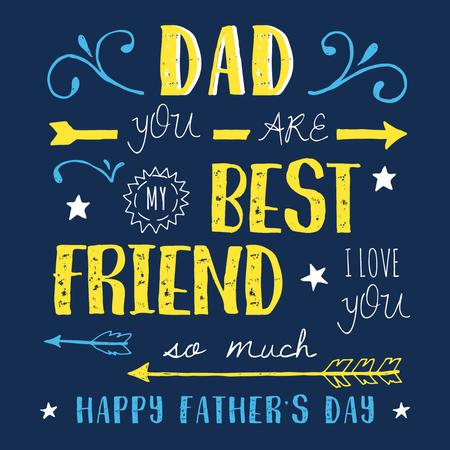 Father's day greeting card Instagram Tasarım Şablonu