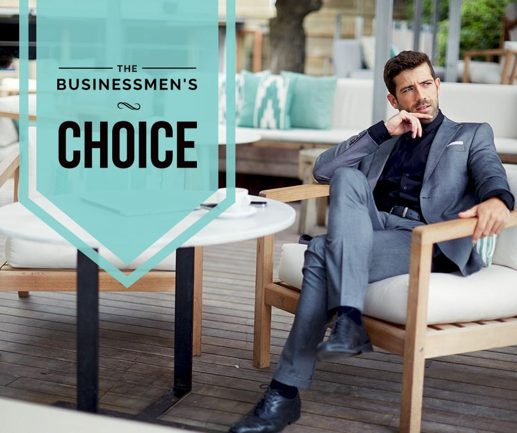 Businessman wearing Stylish Suit — Crear un diseño