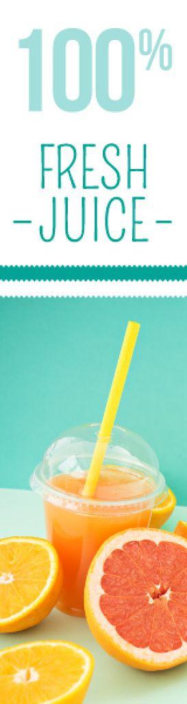 Fresh juice banner — Créer un visuel