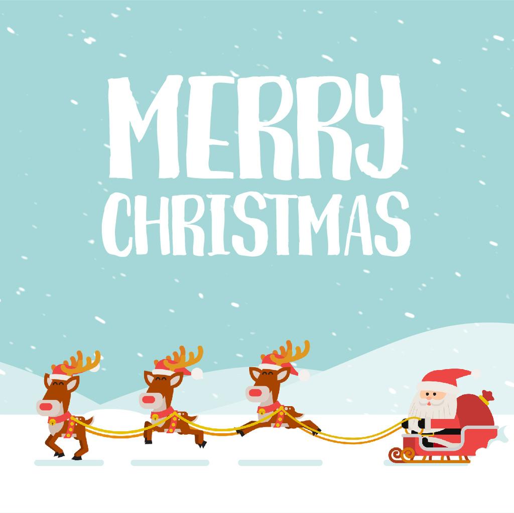 Santa riding in sleigh  — Modelo de projeto