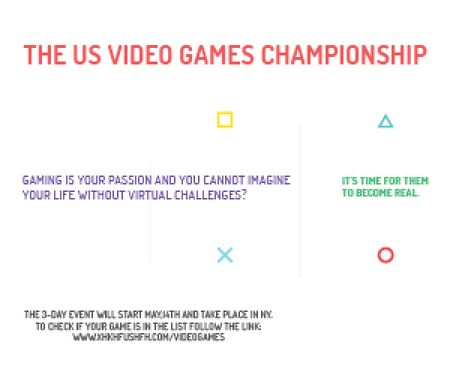 Plantilla de diseño de Video games Championship  Medium Rectangle