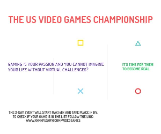 Video games Championship  Medium Rectangle – шаблон для дизайну