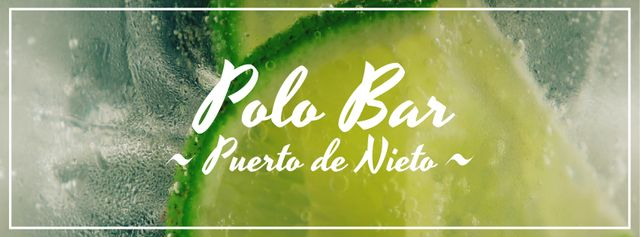 Modèle de visuel Lime slices in glass with mojito - Facebook Video cover