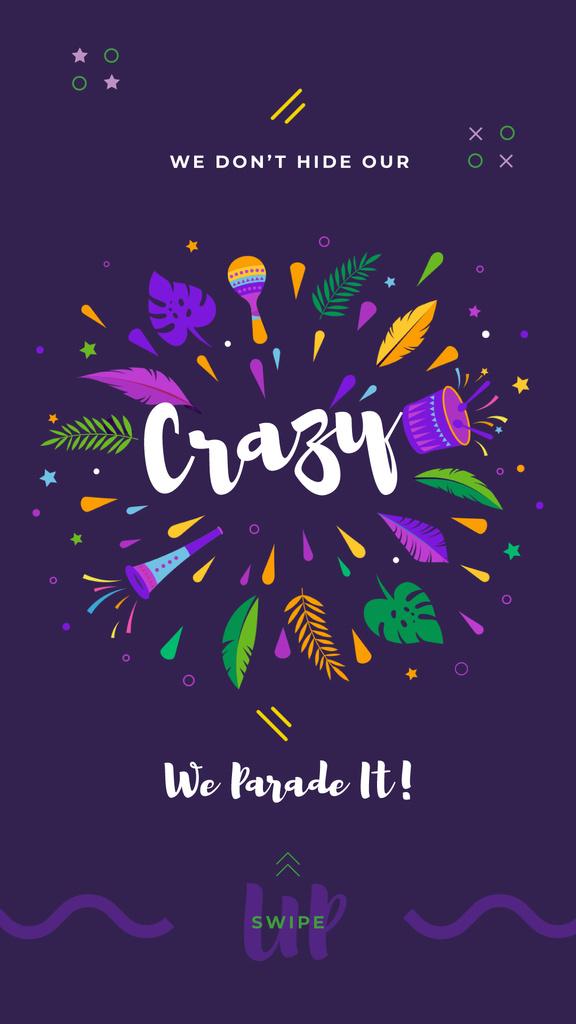 Mardi Gras carnival attributes — Modelo de projeto