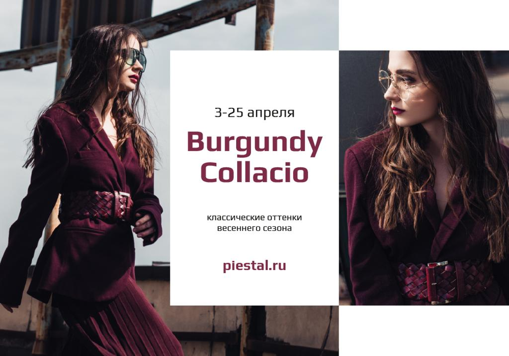 Fashion Sale with Stylish Woman in sunglasses — Créer un visuel