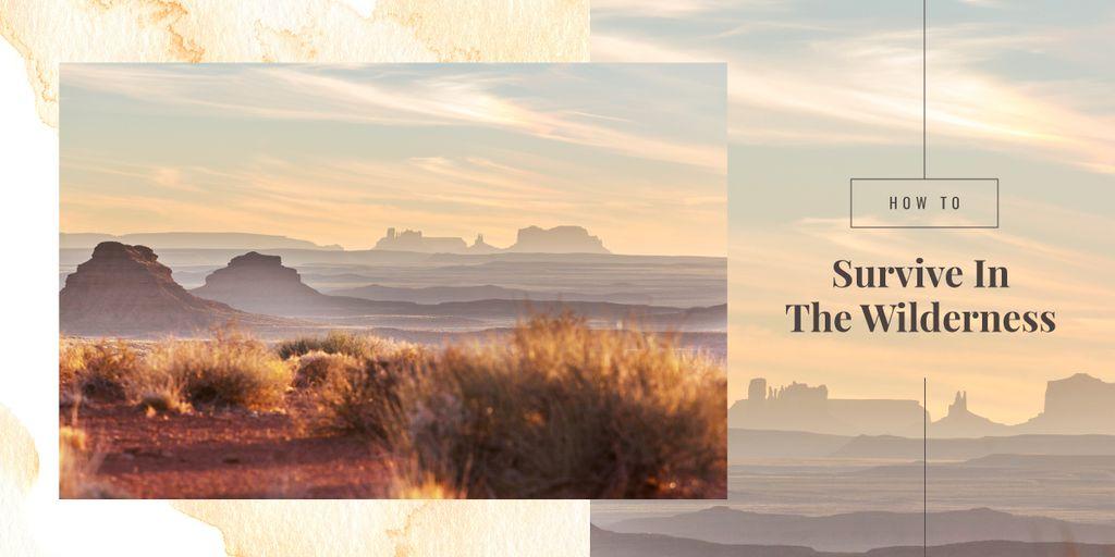 Nature landscape at sunset — Crear un diseño