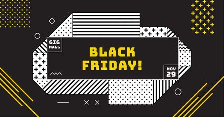 Template di design Black Friday Offer on geometric pattern Facebook AD
