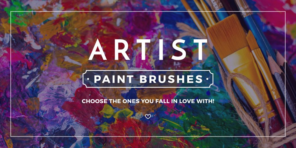 Artist paint brushes store banner — Crea un design