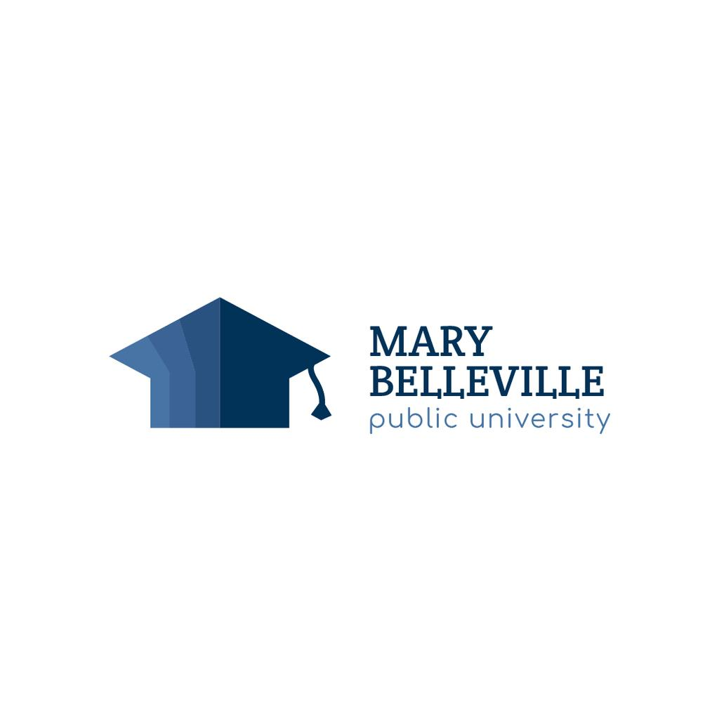 University Promotion with Graduation Cap in Blue — Crear un diseño