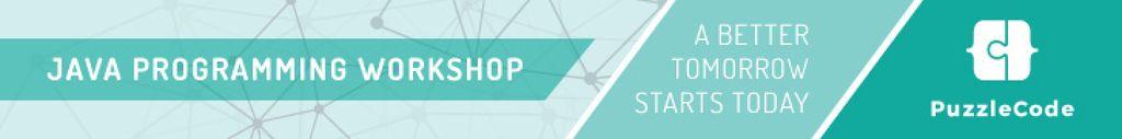 Java programming workshop banner — Maak een ontwerp