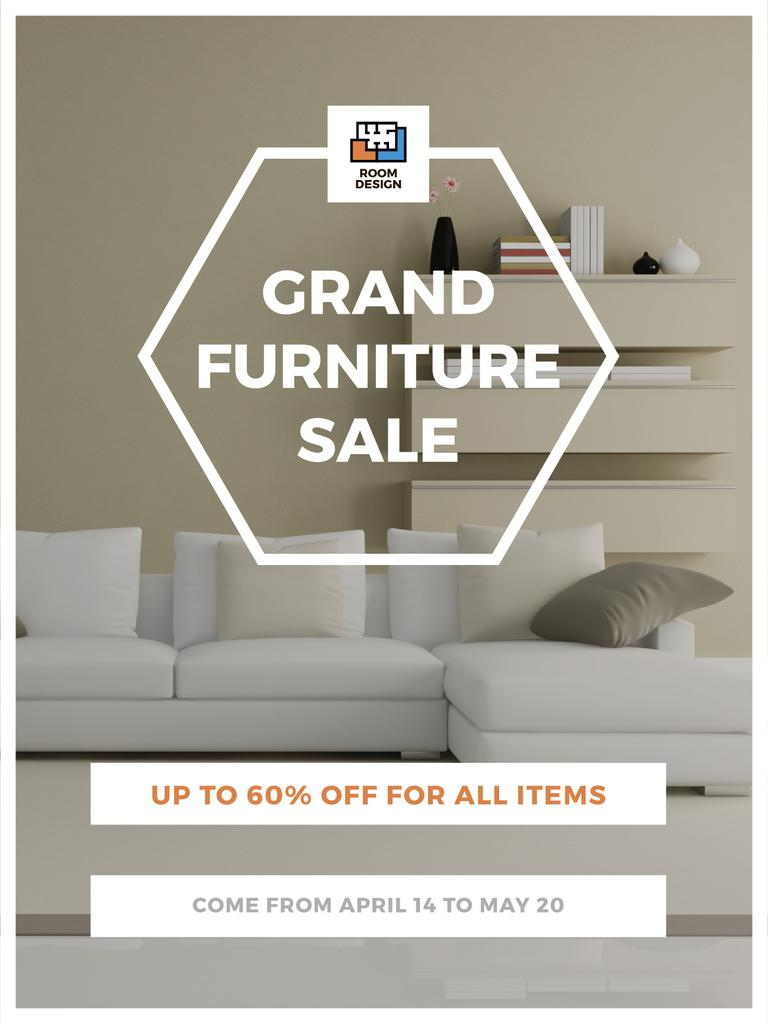 Furniture Sale Modern Interior in Light Colors — Maak een ontwerp