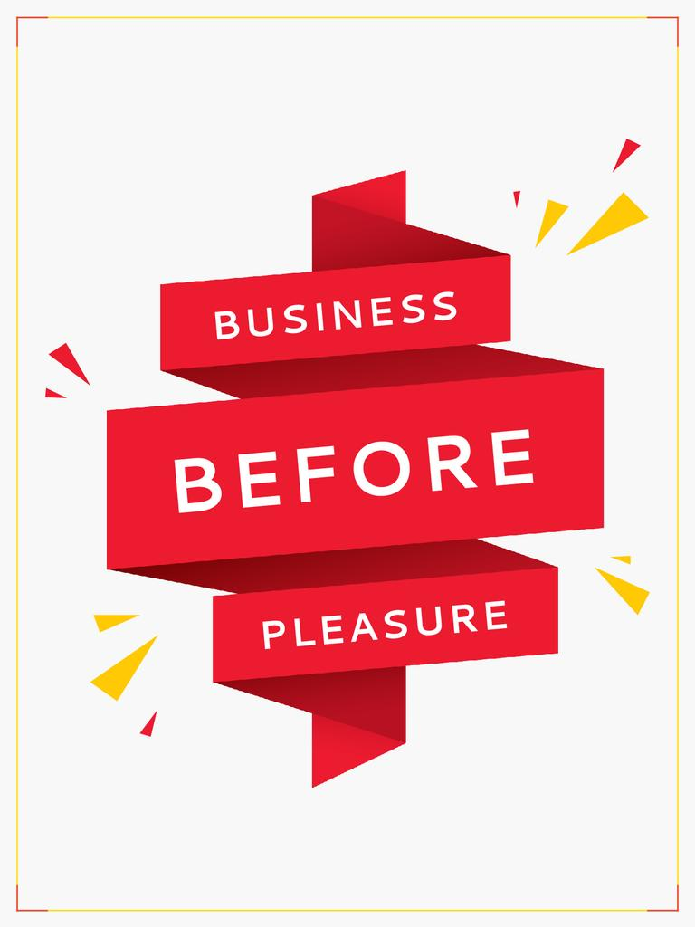 Business before pleasure — Create a Design