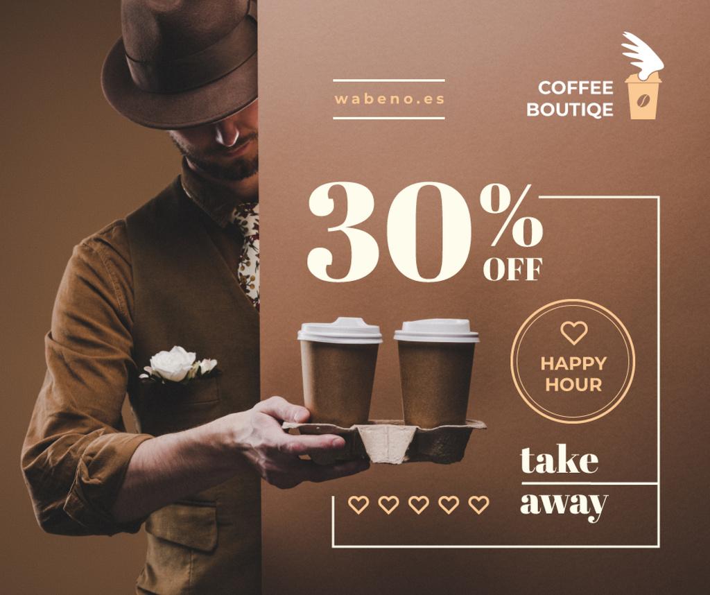 Man holding Coffee To-go — Создать дизайн