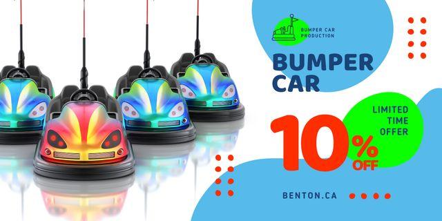 Amusement Park Offer Bumper Cars Image Design Template