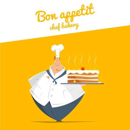 Szablon projektu Chef Holding Sweet Cake Animated Post