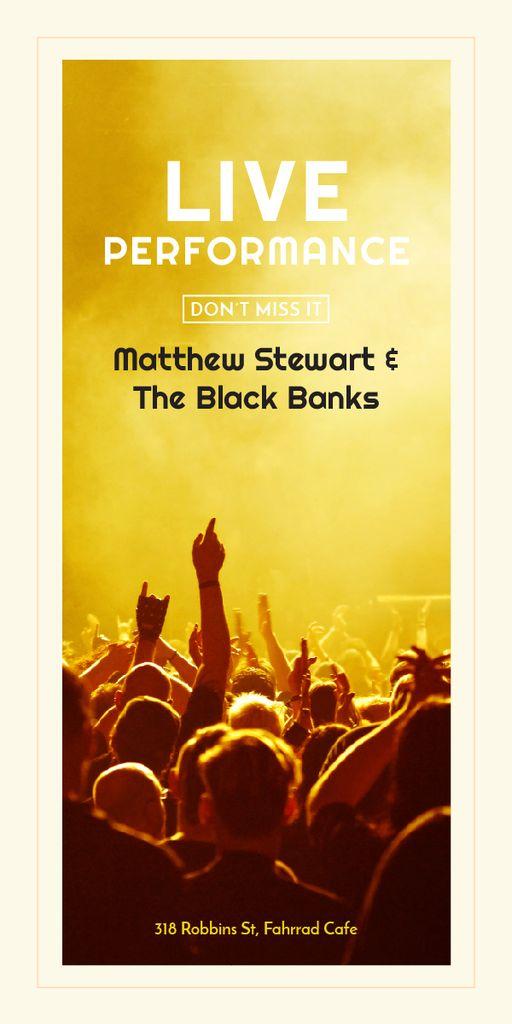 Live Performance Announcement Crowd at Concert — Maak een ontwerp