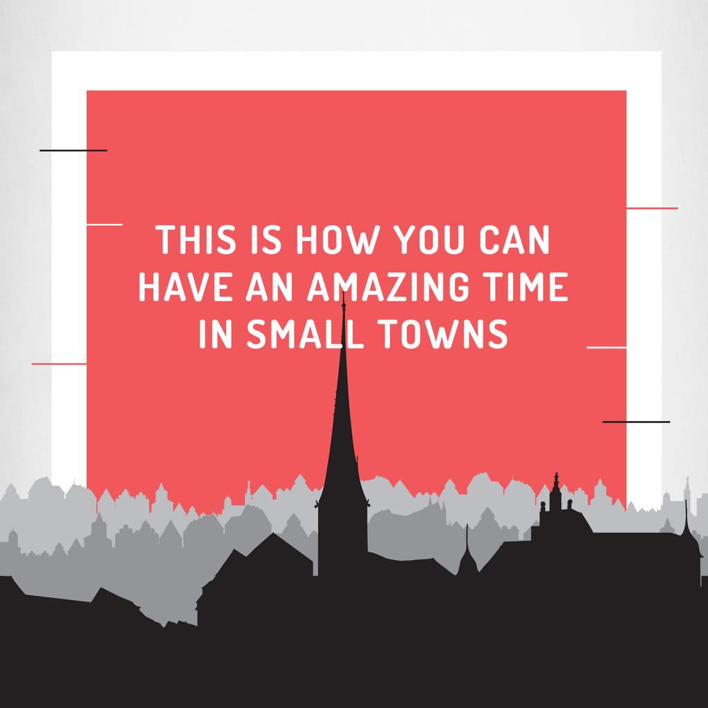 Citation about amazing time in small towns — ein Design erstellen