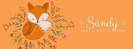 Ontwerpsjabloon van Facebook Video cover van Baby store Ad Red Fox among flowers