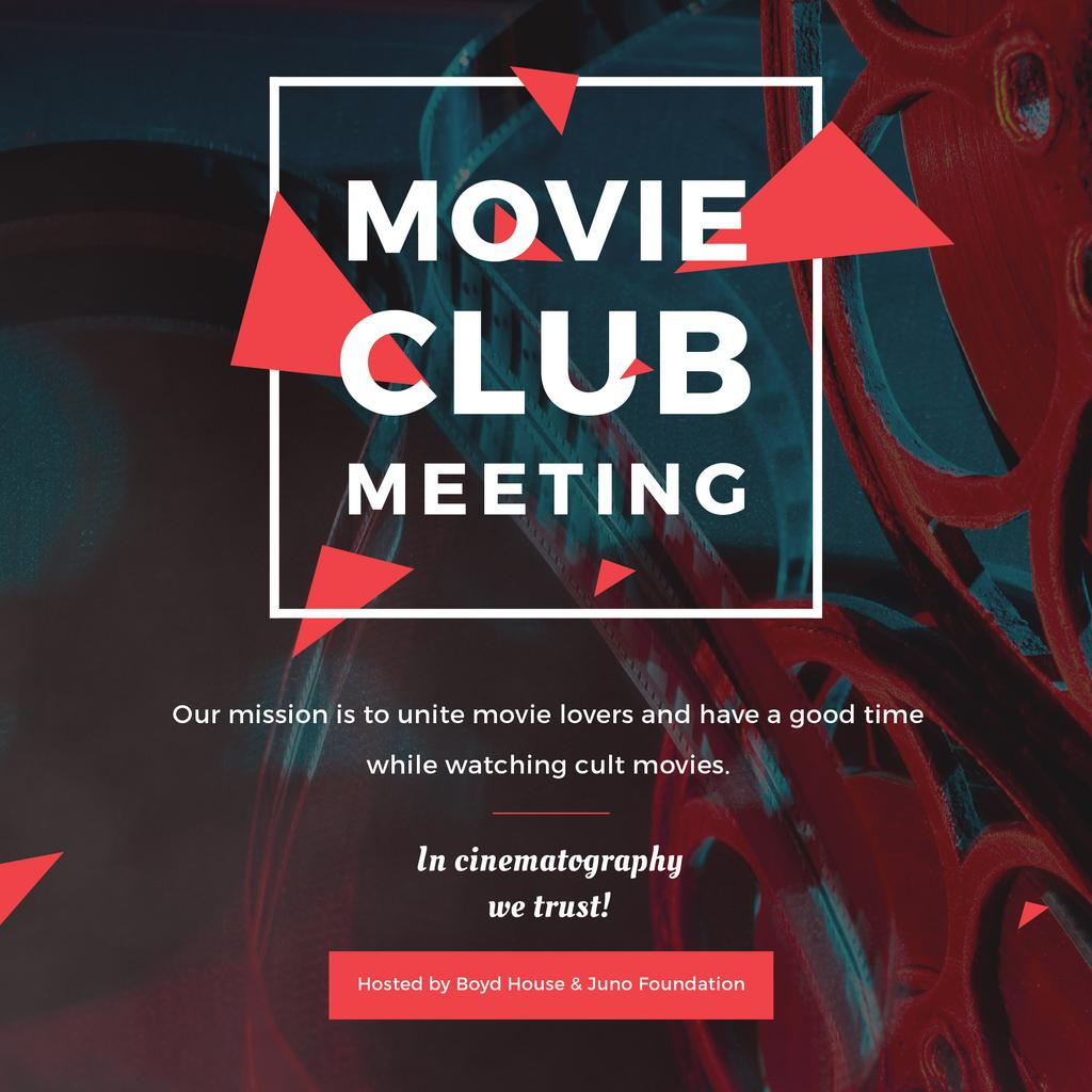 Movie club meeting Announcement — Створити дизайн