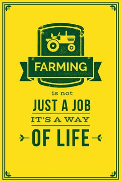 farming yellow poster