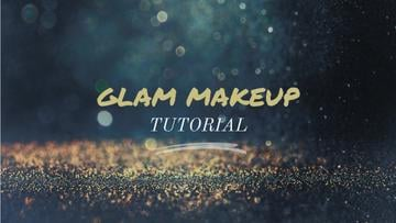 Glamorous Ad Shining Golden Glitter | Youtube Thumbnail Template