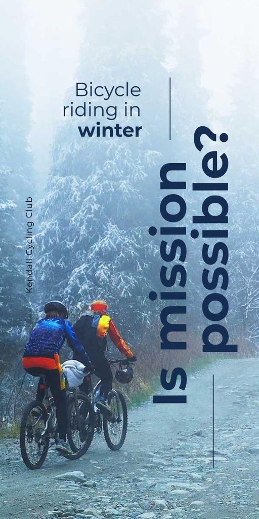 Bicycle riding in winter banner — Crear un diseño