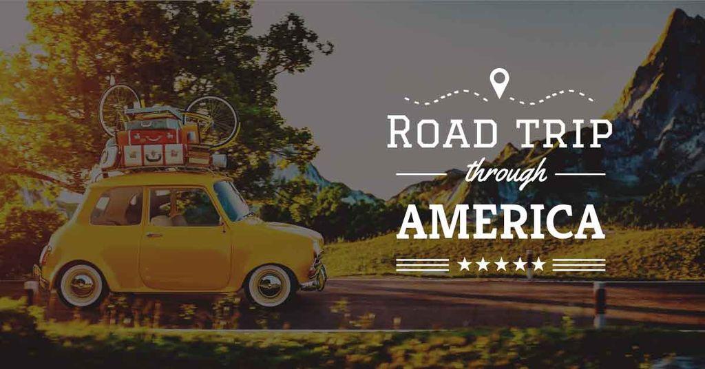 road trip trough america poster — Crear un diseño