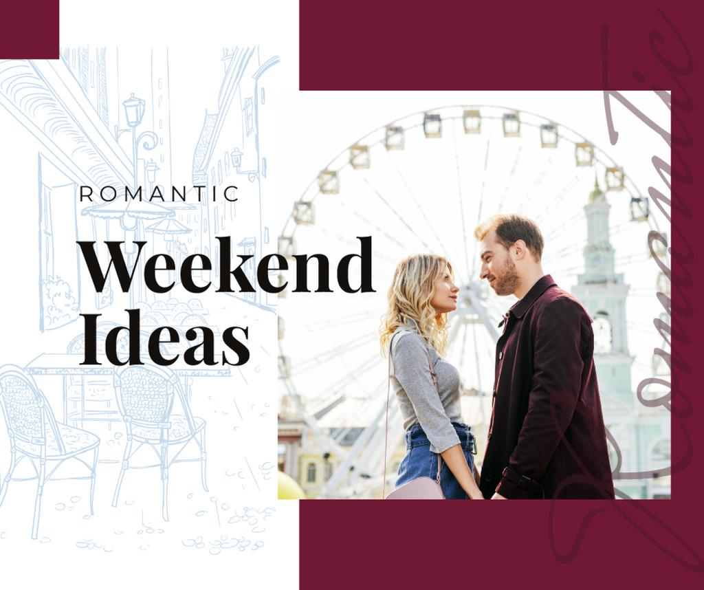 Loving couple in city on weekend — ein Design erstellen