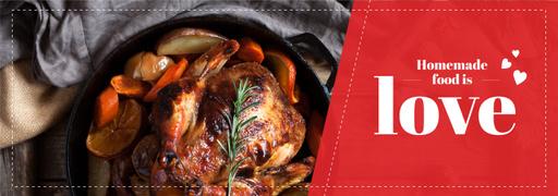 Homemade Food Recipe Roasted Turkey In Pan TumblrBanner