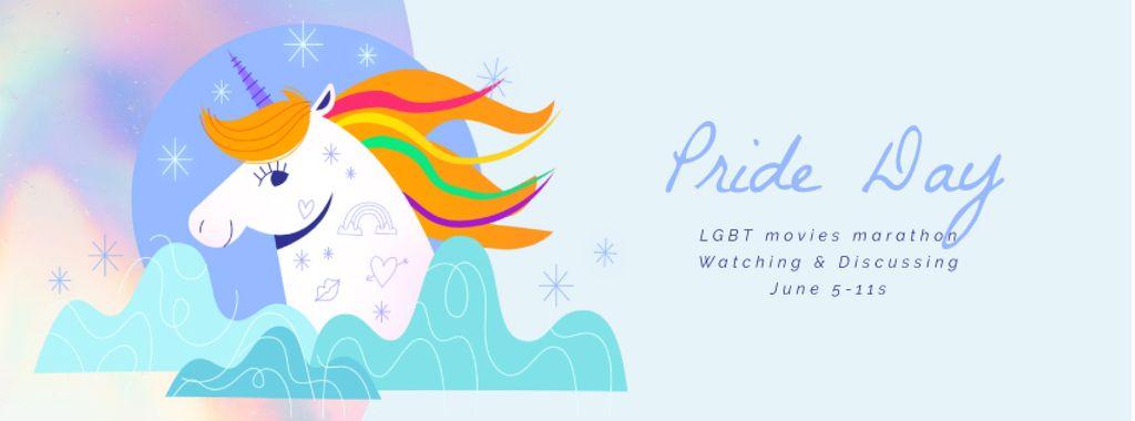 Pride Day Unicorn with Rainbow Hair — Crea un design