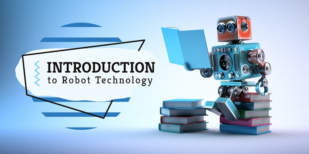 Android robot reading — Створити дизайн