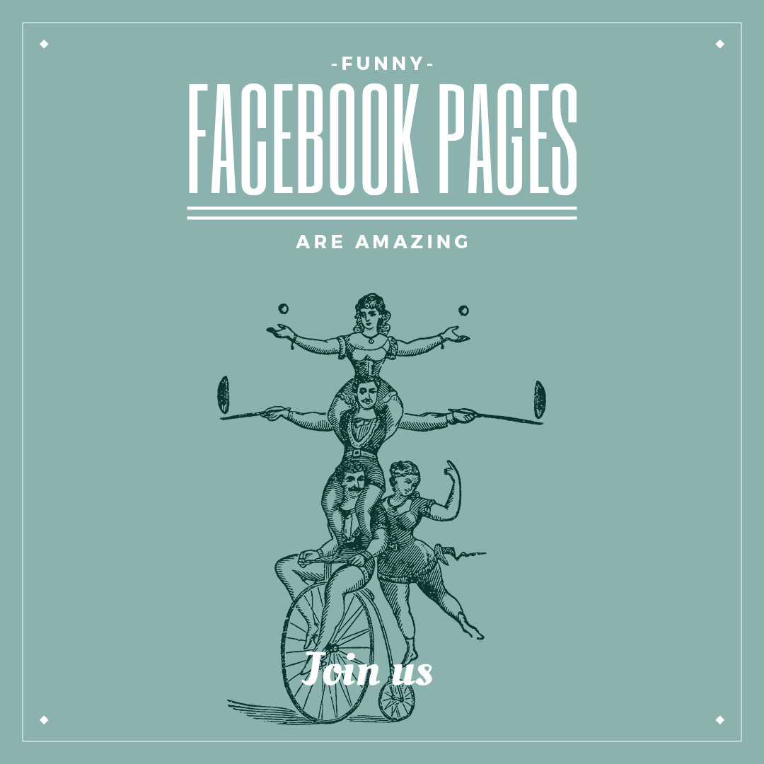 Funny Facebook Pages Poster Instagram Post 1080x1080px Template