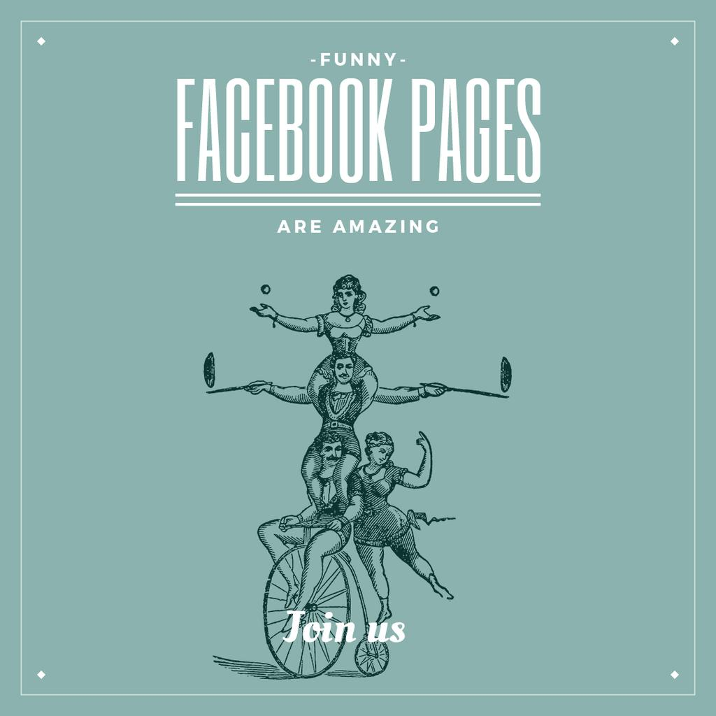 funny facebook pages poster — Create a Design