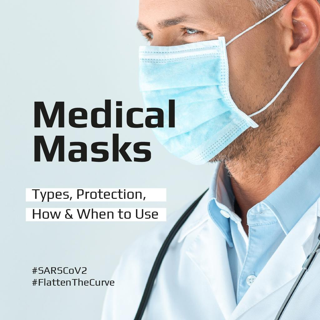 #FlattenTheCurve Information Ad about Medical Masks —デザインを作成する
