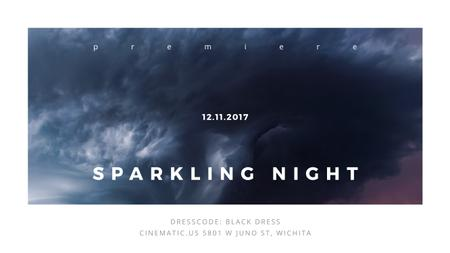 Plantilla de diseño de Sparkling night event Announcement Youtube