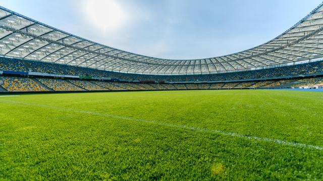 Template di design Empty football Stadium Zoom Background