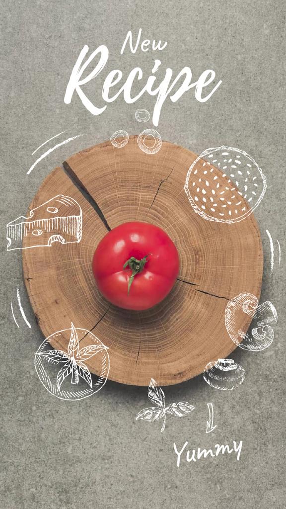 Cooking Sauce with Tomato — Створити дизайн