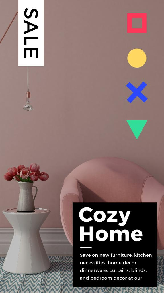 Cozy Interior in Pink Color | Vertical Video Template — Створити дизайн
