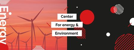 Template di design Renewable Energy Wind Turbines Farm Facebook cover