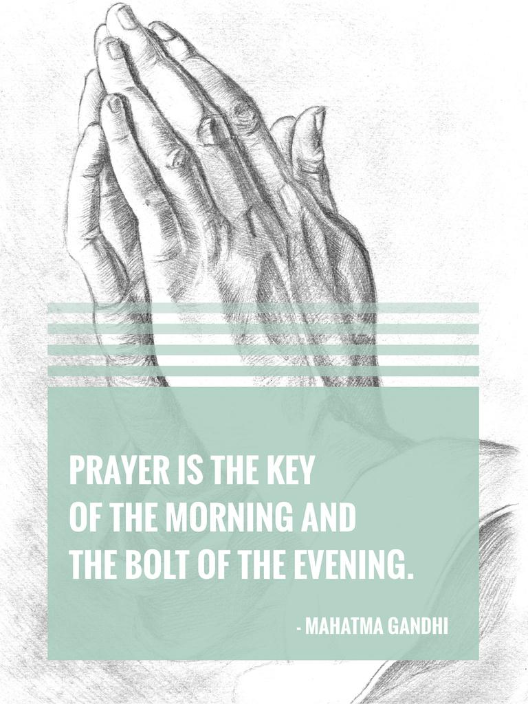 Religion Invitation with Hands in Prayer — Crear un diseño