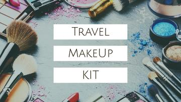 Travel Makeup Kit Cosmetics Set | Youtube Thumbnail Template