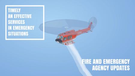 Modèle de visuel Fire helicopter dropping water - Full HD video
