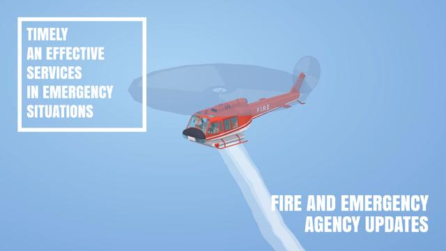 Template di design Fire helicopter dropping water Full HD video