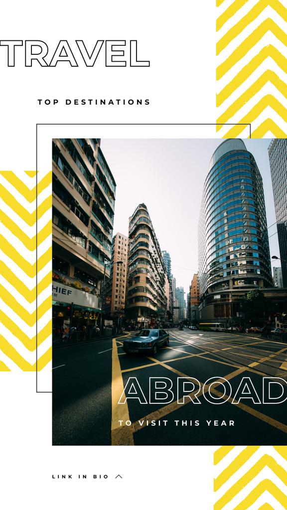 Modern city downtown — Modelo de projeto